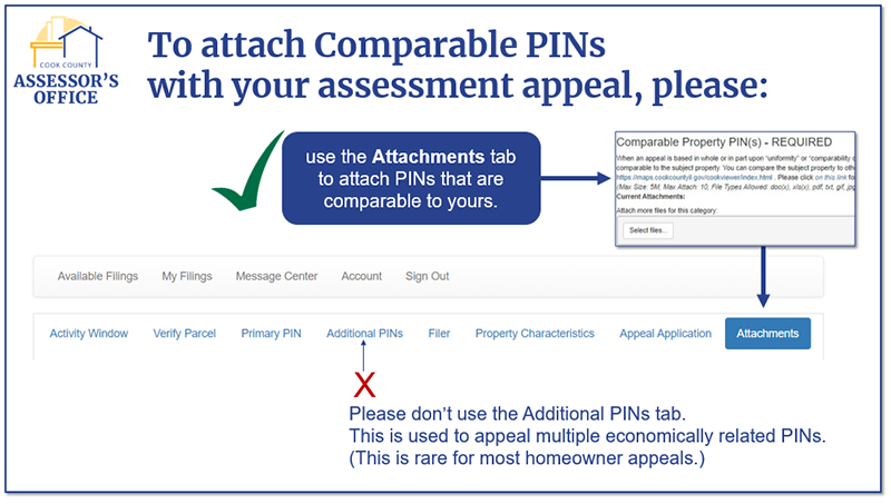 Attach PINS using the ATTACHMENTS tab.
