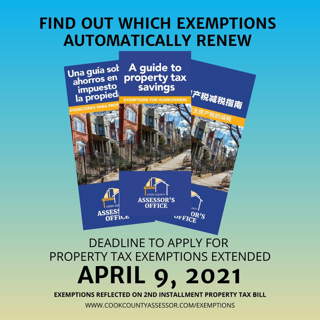 Exemption Deadline Extended