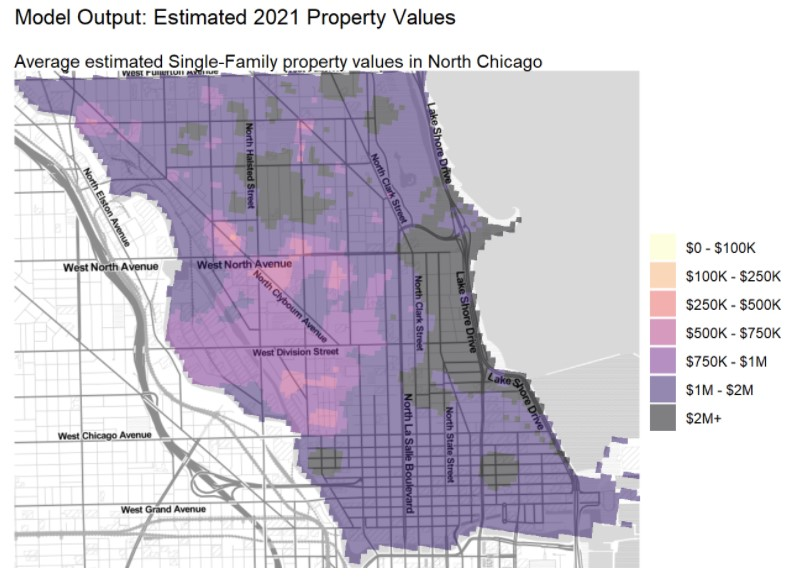 Model Output- Estimated 2021 Property Values / North Township