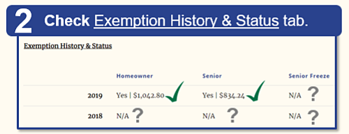 Step 2: Scroll down to the Exemption History tab.