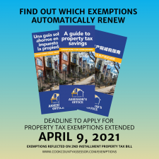 Exemption Deadline Extended